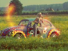 #car#sun#flowers
