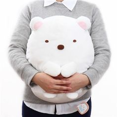 cute big white polar bear Sumikkogurashi plush toy 2