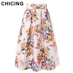 Vintage Flower Print Ball Gown Pleated Midi Skater Skirt Only $19.99 => Save up to 60% and Free Shipping => Order Now! #Skirt outfits #Skirt steak #Skirt pattern #Skirt diy #skater Skirt #midi Skirt #tulle Skirt #maxi Skirt #pencil Skirt