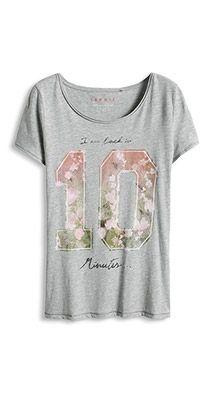 Ligera camiseta estampada de algodón