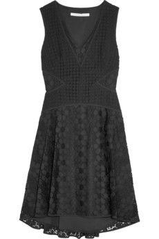 Diane Von Furstenberg -Fiorenza cady-trimmed crochet-lace dress