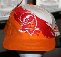 Vintage 90 s Tampa Bay Buccaneers Paint Splash Brush Wool Snapback Cap Hat  NWT  LogoAthletic  TampaBayBuccaneers 47cd0b4a9
