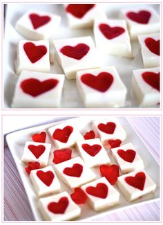 20-Minute Heart-Shaped Jello Squares