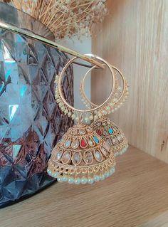 Indian Jewelry Earrings, Fancy Jewellery, Jewelry Design Earrings, Indian Wedding Jewelry, Ear Jewelry, Stylish Jewelry, Girls Jewelry, Cute Jewelry, Fashion Earrings