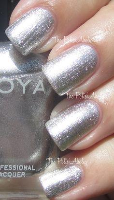 Zoya - Trixie (Sparkly silver nail polish)