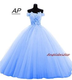 Sexy Tulle Ball Gown Quinceanera Dress 2019 Party Prom Dresses Custom Make Material: Tulle. Built-In Bra: Yes. we very glad to solve all problem with you. Pretty Quinceanera Dresses, Cute Prom Dresses, Pretty Dresses, Beautiful Dresses, Quinceanera Court, Xv Dresses, Quince Dresses, Ball Gown Dresses, Sweet 16 Dresses Blue