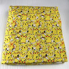 42770 50 * 147 cm dos desenhos animados Pikachu Pokemon patchwork impresso tecido de algodão para crianças de cama de tecido, Costura Tilda boneca