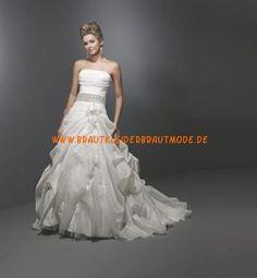 2013 Elegante Luxuriöse Brautkleider aus Taft mit Schleppe mit Perlen verzieren