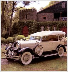 If I were going to fork out pointless money on my wedding, I would totally rent one of the crazy awesome classy old cars...but, I don't make decisions like that. lol