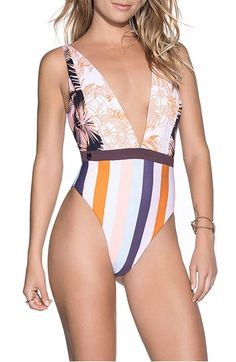 c7a2106cbbfa1 Maaji Rainbow Jungle Reversible One-Piece Swimsuit