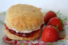 "Vegan English style scones with Coconut ""clotted"" Cream"