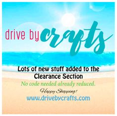 check out our clearance section.. drivebycrafts.com