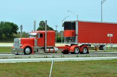 Orange Peterbilt Truck by FormerWMDriver, via Flickr