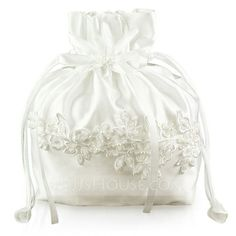 Handbags - $29.99 - Unique Satin With Imitation Pearl/Lace Bridal Purse (012003821) http://jjshouse.com/Unique-Satin-With-Imitation-Pearl-Lace-Bridal-Purse-012003821-g3821?snsref=pt&utm_content=pt