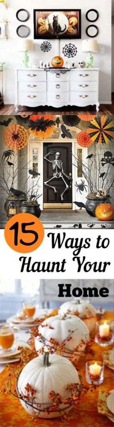 Simple to complex, scary and cute these 15 door ideas for Halloween - scary door decorations for halloween