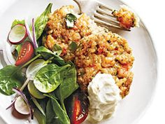 Shrimp and White Bean Cakes with Roasted Garlic Sauce
