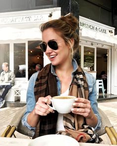 light denim jacket for cool mornings   black aviator sunglasses   ombre burberry scarf   summer fashion   summer style   fashion for summer   style ideas for summer   warm weather fashion   fashion tips for summer    a lonestar state of southern