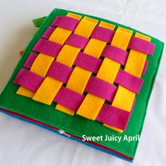 Hey, I found this really awesome Etsy listing at https://www.etsy.com/listing/233089429/weaving-quiet-book-page