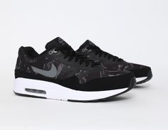 #Nike Air Max 1 Tape Camo Black