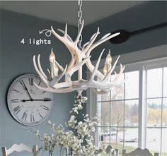 Lamp: Light In The Box Traditional Crystal Chandeliers Pendant Lights Ceiling Lamp Fixture from The Unique Style of The Antler Chandelier Design