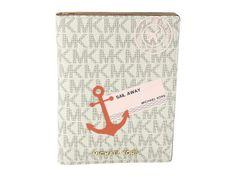 MICHAEL Michael Kors - Illustrations Sl Away Passport Wallet (Vanilla/Acorn) Wallet Handbags