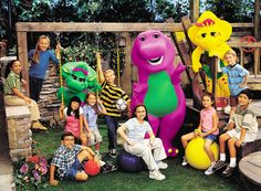 Barney & Friends group photo! Ah, my childhood show starred my idol, Selena Gomez