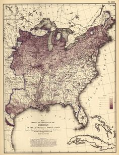 Ratio of foreign born and early population density map -- 9 | 11 Of The Most Influential Infographics Of The 19th Century | Co.Design | business + design