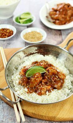 Honey Sriracha Chicken with Lime - Slow Cooler Recipe - Creative-Culinary.com