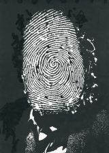 AIAP | Fondo Andrea Rauch | Biblioteca | Composizione originale per manifesto Mafia: spirali di violenza