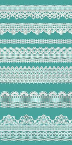 Clip Art - Lace Borders-2  for scrapbooking, card & invintation making, photo cards - Personal and Commercial Use. $3.00, via Etsy.