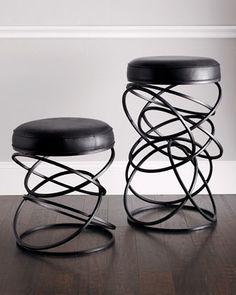 """Dancing Circles"" Stools by Global Views at Neiman Marcus."
