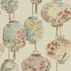 "Found it at Wayfair - Empress Kana Lantern Festival 33' x 20.5"" Floral Wallpaper"