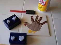 Handprint turkey! How cute. Perfect for little ones who can't really make their own stuff yet.