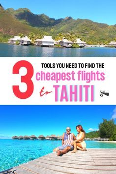 The 3 tools you need to find the cheapest airline tickets from Los Angeles California to Tahiti French Polynesia - cheap flight tips for your Tahiti vacation, how to get cheap flights to Tahiti Moorea #tahititravel #tahitihoneymoon Beautiful Vacation Spots, Beautiful Places To Travel, Cool Places To Visit, Best Island Vacation, Italy Vacation, Cheap Tropical Vacations, Romantic Vacations, Romantic Travel, Tahiti