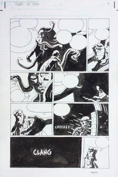 MIKE MIGNOLA - HELLBOY THE ISLAND # 1 pg 9 Comic Art