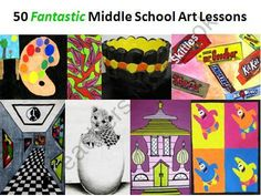 50 Fantastic Middle School Art Lessons from The Art Teacher on TeachersNotebook.com (51 pages)