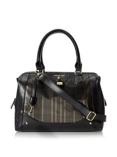 "www.myhabit.com  A classic satchel silhouette with perforated panels, a roomy interior with an inner zip and 3 slip pockets, optional shoulder strap and a 5"" handle drop"
