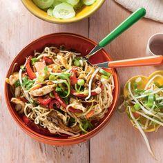 Dat is snel klaar: kip hoisin met oesterzwam en bosui. #JumboSupermarkten #noodles #groente