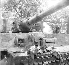 Tiger I with three direct hits on frontal armor with no penetrations.