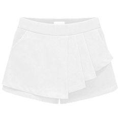 Shorts para mulheres em desenho assimétrico  Versátil e requintado. Tecido: poliéster, chiffon, algodão Forrado    Medidas: Comprimento 32cm Cintura 82cm  Largura da base: 104cm
