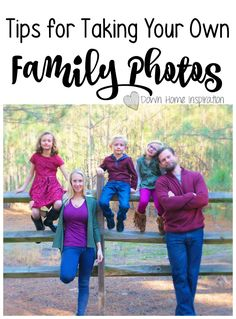 Here are my tips for taking your own family photos. It can seem scary, but I promise that it isn't as hard as you might think and you will love the results!