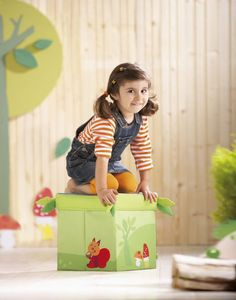 Zitkubus Opbergbox Bos | Kids Decoshop