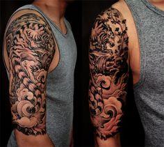 Tiger tattoo half sleeve - Chronic Ink Tattoos