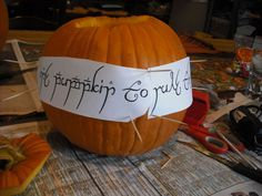 lord of the rings pumpkin carving template | Lord of the Rings Inspired Pumpkin : Carve the Pumpkin