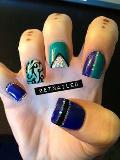 Nail Art, different nail designs which I want to try.  Love how they are different, yet still go together.