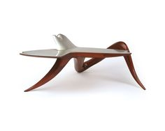 """Wendell Castle's """"Desk"""", 1967, in cherry and mahogany with silver inlaid top"""