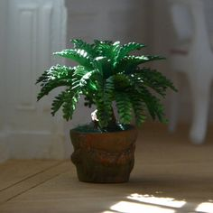 Miniature 1: 12 scale  Green Plant Dollhouse by MiniMondeBoutique