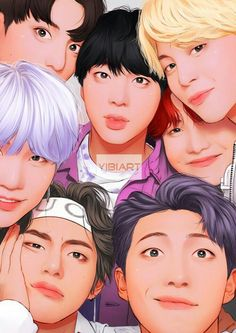 BTS- this is a rlly good fanart, I thought it was a picture at first glance