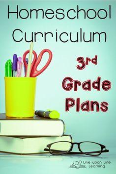 Homeschool Curriculum 3rd Grade Plans
