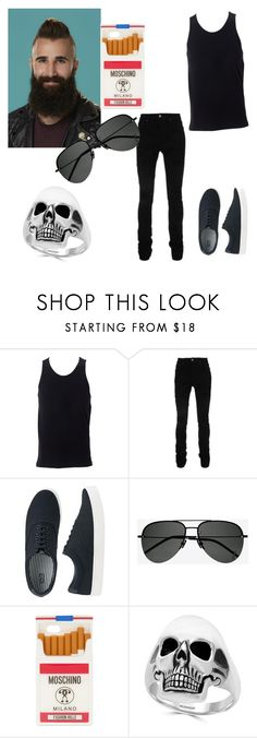 """""""Paul Abrahamian"""" by metalashes ❤ liked on Polyvore featuring Simplex Apparel, AMIRI, Uniqlo, Yves Saint Laurent, Moschino, Effy Jewelry, men's fashion and menswear"""